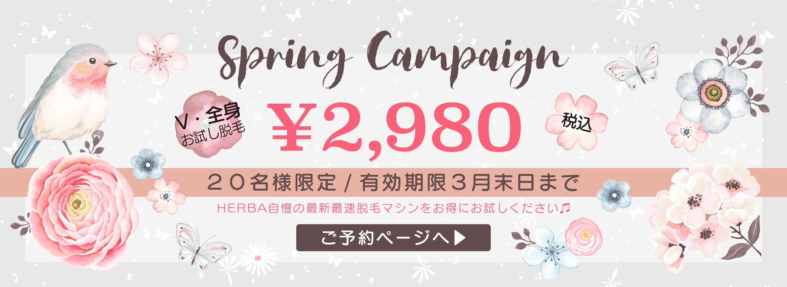 旭川エステティックサロン ヘルバ 2020スプリングキャンペーン